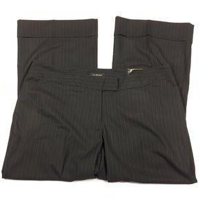 NEW Lane Bryant Black Cuffed Pinstripe Pants 22